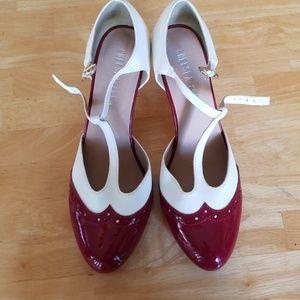 Chelsea Crew t-strap pump heels
